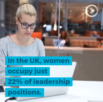 In the UK women occupy 22% of leadership roles